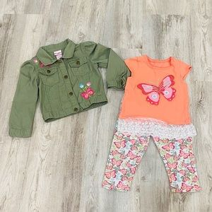Nannette Kids Butterfly 3 Piece Set